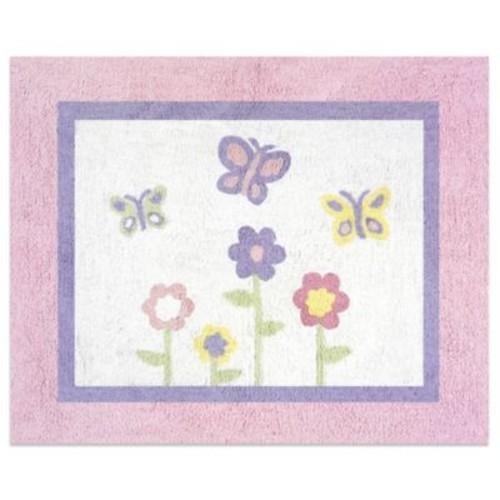 Sweet Jojo Designs Butterfly Floor Rug in Pink/Purple