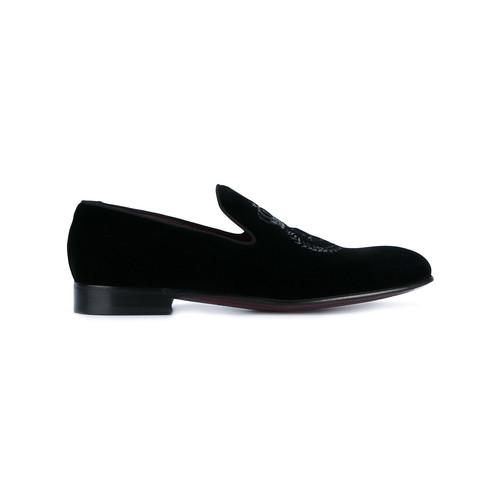 embroidered velvet slippers