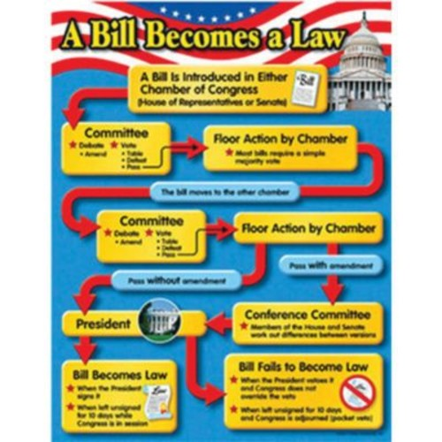 Trend Enterprises A Bill Becomes A Law Learning Chart