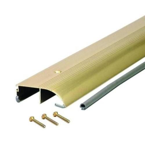 M-D Building Products High 3-3/8 in. x 96 in. Brite Gold Aluminum Bumper Thresh
