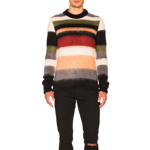 SAINT LAURENT Striped Sweater In Multicolor
