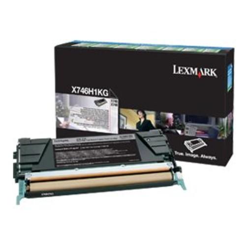 Lexmark High Yield Laser Toner - Original Toner Cartridge, LCCP, LRP, Color Laser - For X746de, 748de, 748dte, 12000 Yield, Black - X746H1KG