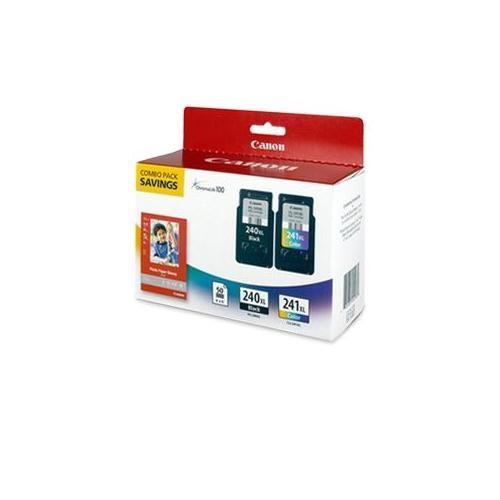 Canon PG-240XL Black/CL-241XL Tri-Color/GP-502 Combo Pack - High Capacity Ink Tank, ChromaLife 100 Ink, Black, Cyan, Yel