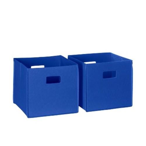 RiverRidge 2pc Folding Storage Bin Set - Blue