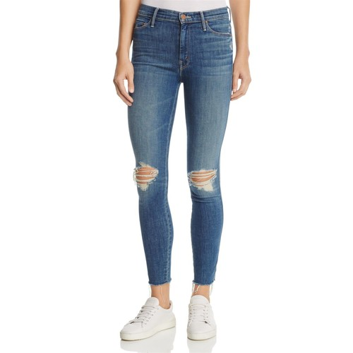MOTHER The Vamp Fray Skinny Jeans In Crazy Like A Fox