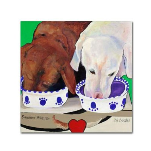 Trademark Fine Art 35 in. x 35 in. Summer Wag Ale Canvas Art