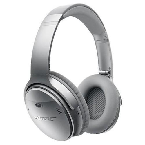 Bose QuietComfort 35 Wireless Headphones Silver Bose 3' BT Headset Car Charger 759944-0020 A