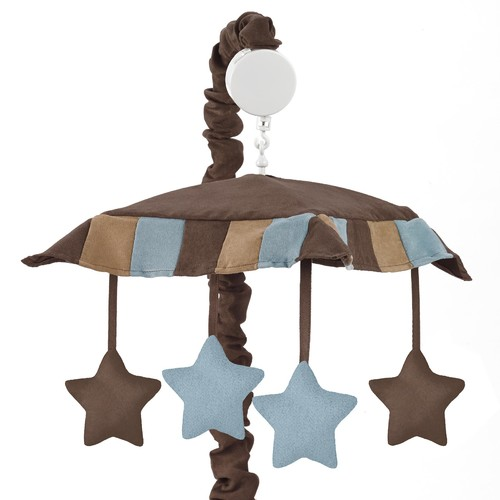 Sweet Jojo Designs Soho Blue and Brown Collection Musical Mobile