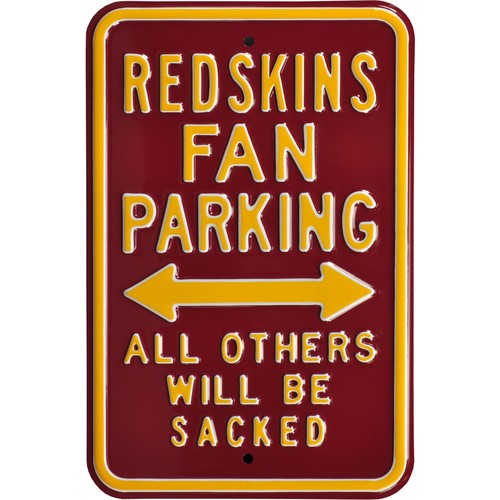 Authentic Street Signs Washington Redskins Parking Sign