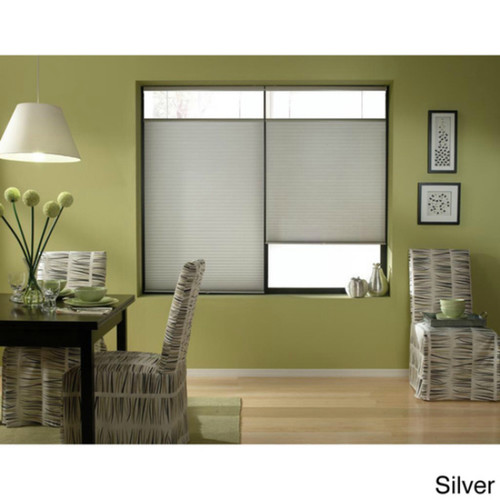 First Rate Blinds Silver 22 to 22.5-inch Wide Cordless Top Down Bottom Up Cellular Shades