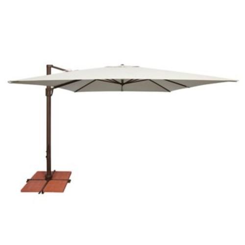 SimplyShade 10' Bali Square Cantilever Umbrella; Solefin / Sky Blue
