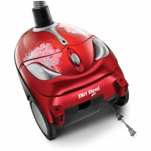 Dirt Devil Tattoo Crimson Bouquet Bagged Canister Vacuum, SD30040BB - Corded