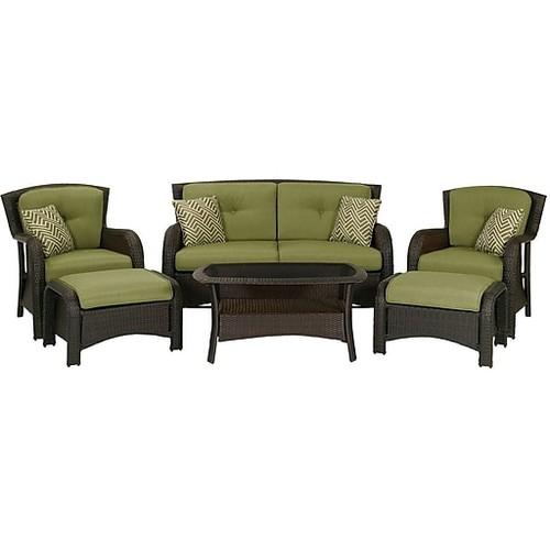 Hanover Strathmere Deep Seating Patio Set, 6 Piece