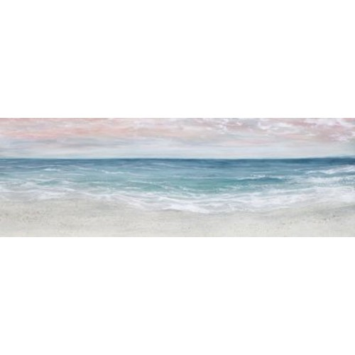 Highland Dunes 'Sunset Beach w/ Lacquer' Acrylic Painting Print; 18'' H x 54'' W