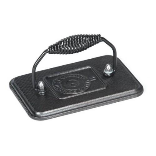 Lodge Cast Iron 6.75 In. x 4.5 In. Grill Press, Black