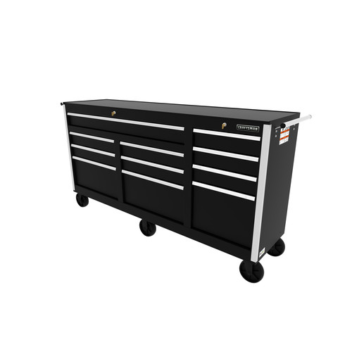 Craftsman 73 in. 11-Drawer Ball Bearing Slides Cabinet, Black