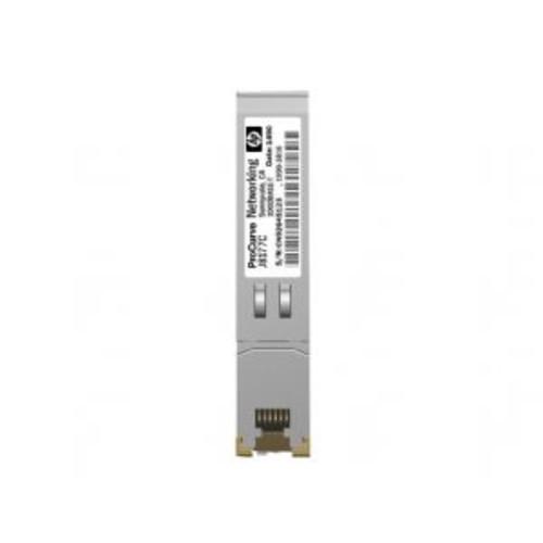 HPE SFP (mini-GBIC) Transceiver Module - Gigabit Ethernet, 1000Base-T, RJ-45, For HPE 1810, 1910, 20p 10/100/1000, 2530, 2610, 3500, 5406, 6200, Switch 8212, vl 20 (Open Box)- J8177C-OB