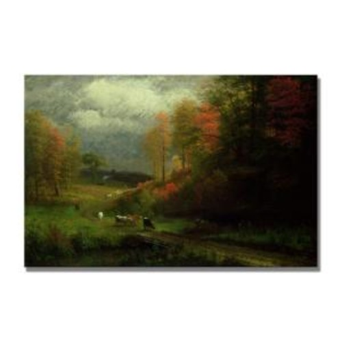 Trademark Fine Art 22 in. x 32 in. Rainy Day in Autumn Canvas Art