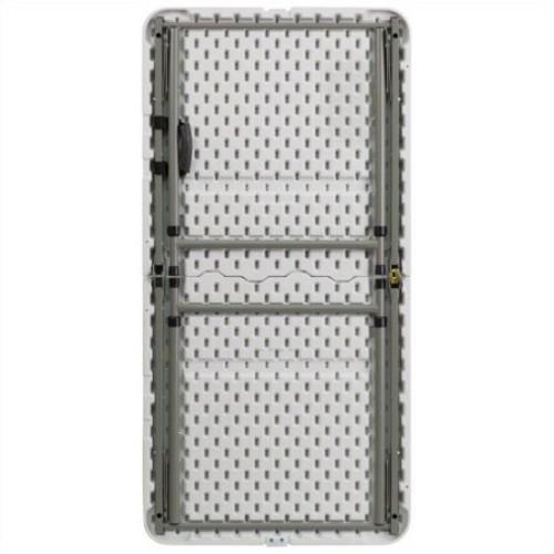 White Plastic Height Adjustable Folding Table