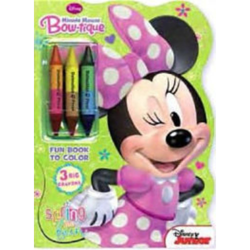 Minnie Mouse Bow-Tique: Spring Into Fun [With 3 Big Crayons]
