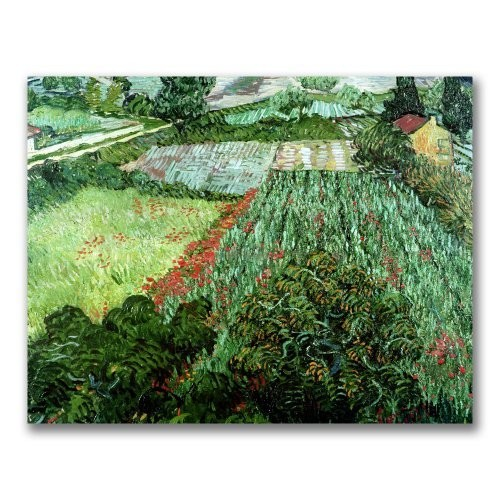 Field with Poppies by Vincent van Gogh, 35x47-Inch Canvas Wall Art [35 by 47-Inch]