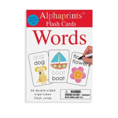 Alphaprints Wipe Clean Flash Cards Words