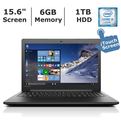 Lenovo Ideapad 310 Touchscreen Laptop, Intel Core i3-7100U Processor, 6GB Memory, 1TB Hard Drive