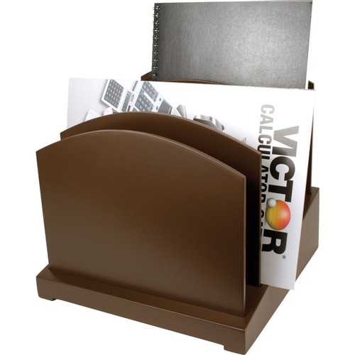 Victor Wood Desk Accessories; Incline File, Mocha Brown
