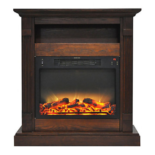 Cambridge Sienna Electric Fireplace With Enhanced Log Display, 34