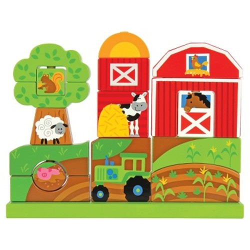 Stephen Joseph Wooden Stacking Set, Farm [Farm]