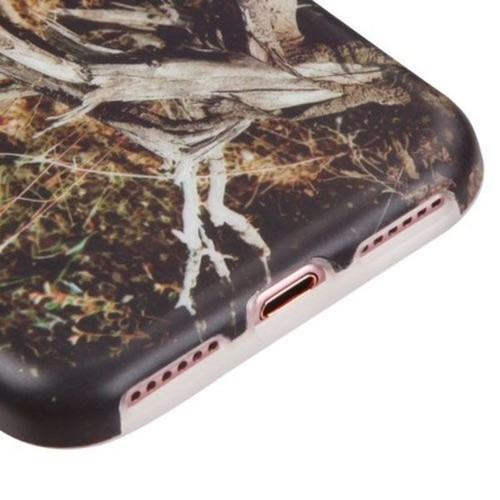 Insten Brown/ Black Vines TPU Rubber Candy Skin Case Cover For Apple iPhone 7