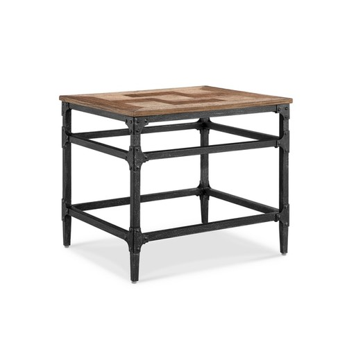 Magnussen Home Furnishings Coffee, Console, Sofa & End Tables Dylan Light Industrial Umber and Gun Metal End Table