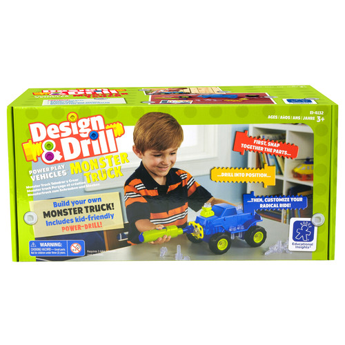 Educational Insights Design & Drill Power Play Vehicles Monster Truck