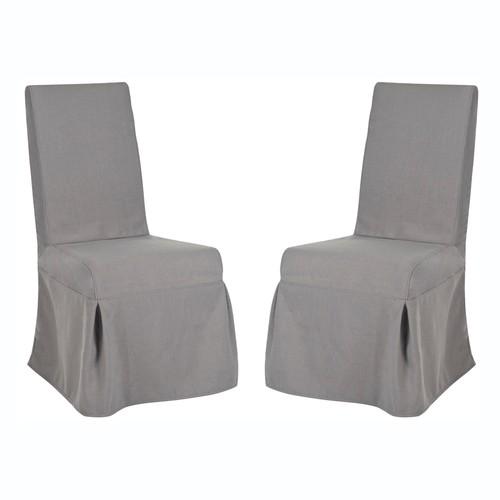 Safavieh 2-piece Adrianna Slipcover Side Chair Set