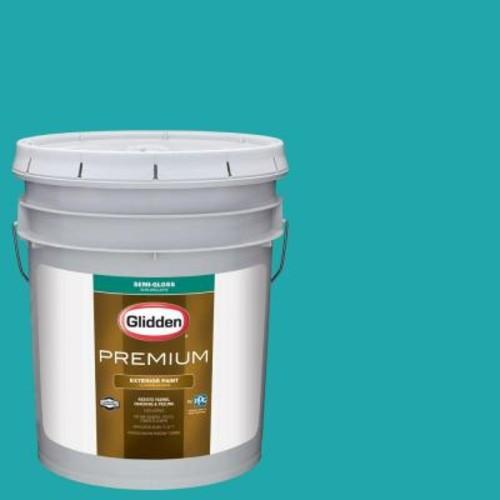 Glidden Premium 5-gal. #HDGB14 Marine Blue Semi-Gloss Latex Exterior Paint