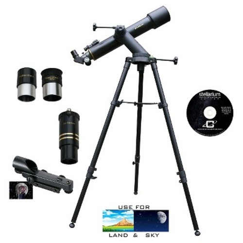 Cassini C-60090TR Tracker Series Astro Refractor Telescope - Black (600mm x 90mm)