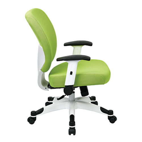Office Star Space Seating Professional Deluxe Mesh Mid-Back Task Chair, Green/White