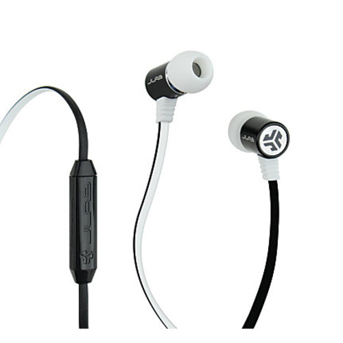 JLab Bass Rugged Earbuds, Black