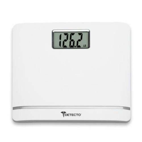 Detecto Plastic LCD Digital Scale in White