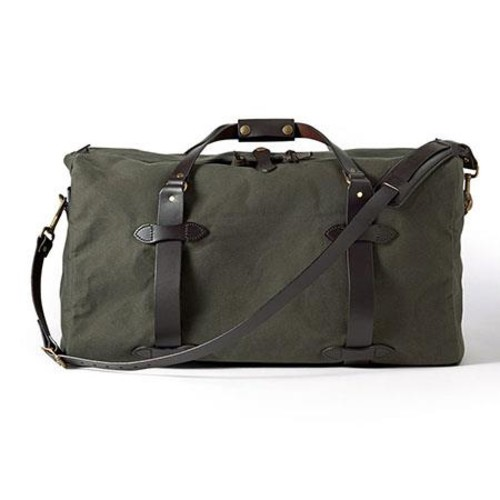 Filson Medium Twill Duffle Water-Resistant Bag, Otter Green 70222-OT