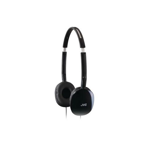 JVC HA-S160 Flat Foldable On-Ear Stereo Headphones, Black HAS160B