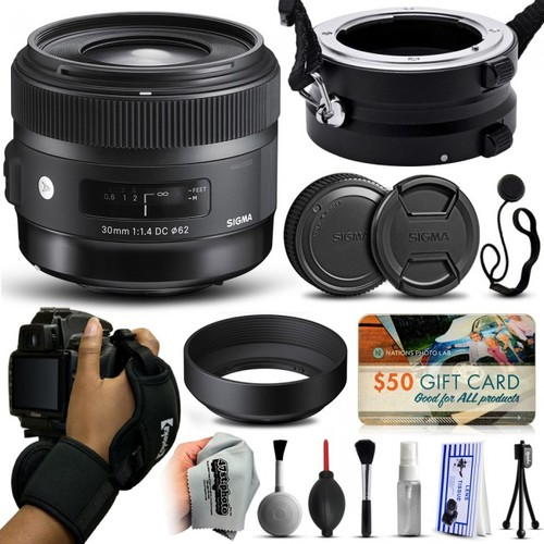 Sigma 30mm F1.4 DC HSM Art Lens for Canon + Dual Holder/Flipper 301101