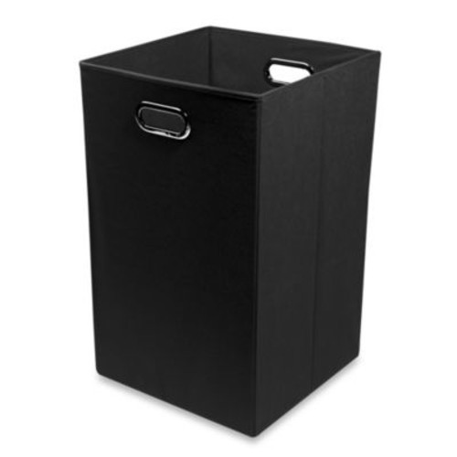 Modern Littles Smarty Pants Solid Folding Laundry Basket in Black
