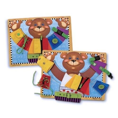 2 Item Bundle: Melissa & Doug 3784 Basic Skills Bear Board + Free Activity Book