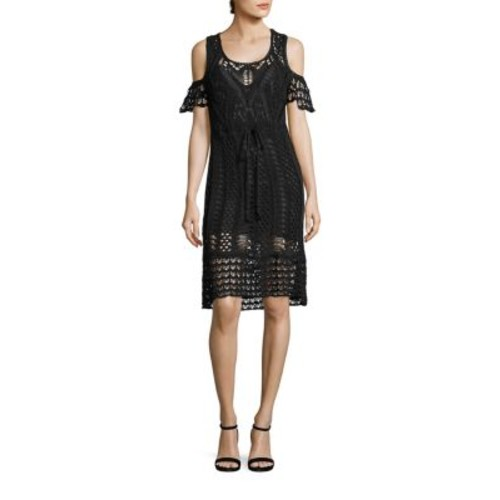 SEE BY CHLOÉ Cold-Shoulder Crochet Dress