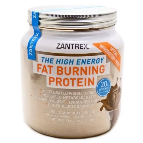 Zantrex The High Energy Triple Chocolate Fudge Fat Burning Protein, 1 lb 3 oz
