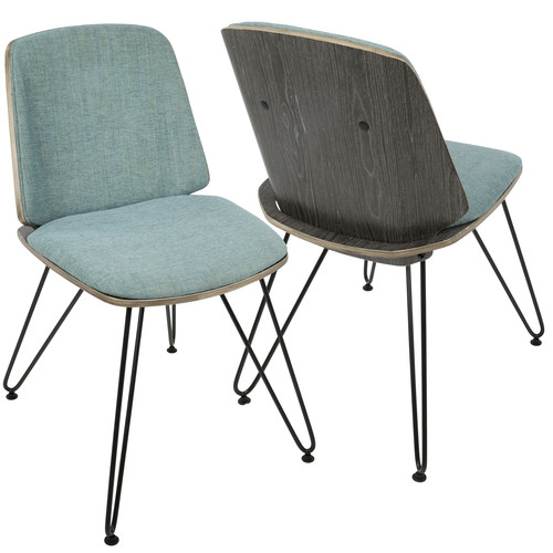Lumisource Avery Mid-Century Modern Accent/Dining Chair by - Set of 2