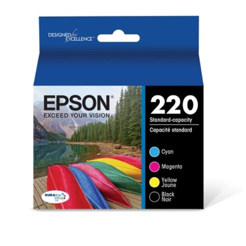 Epson 220 DuraBrite Ultra Ink Cartridge Combo Pack - Multicolor (T220120-BCS)