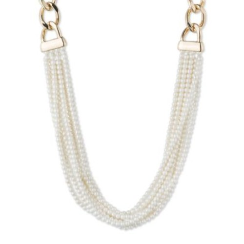 Faux Pearl Multi-Row Necklace