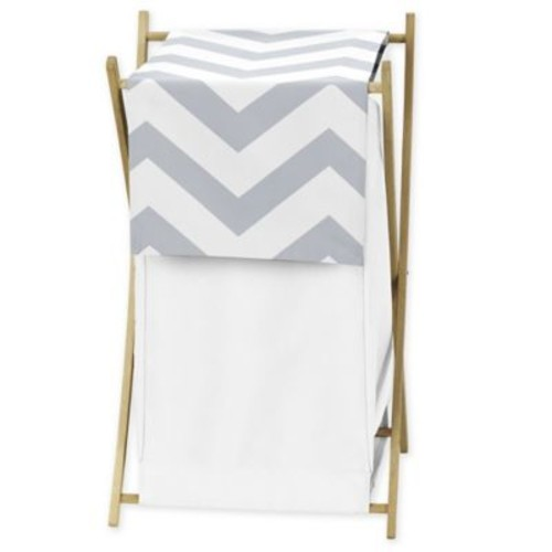 Sweet Jojo Designs Chevron Hamper in Grey/White